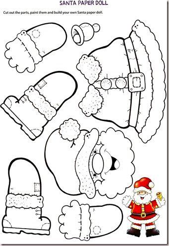 Manichino di Babbo Natale di carta