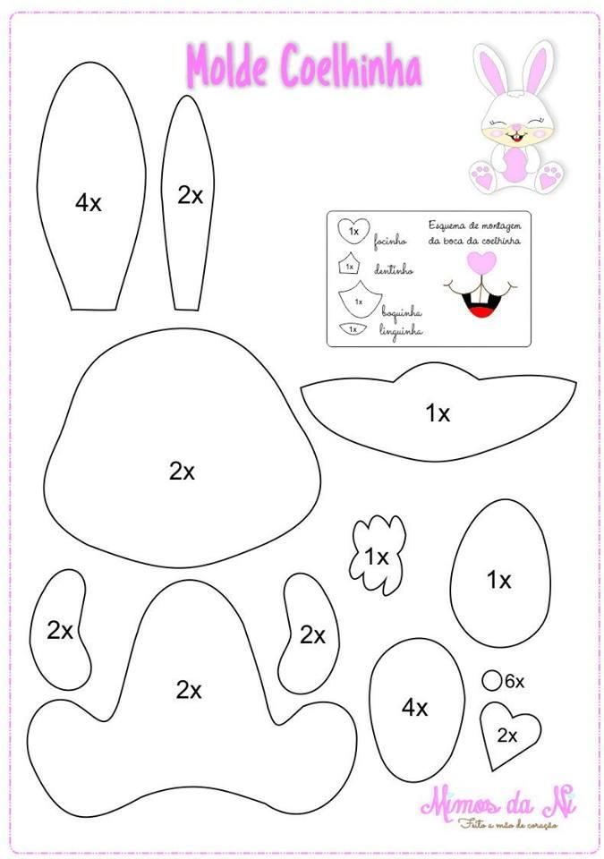 Lavoretti di pasqua per bambini pattern cartamodelli di - Modelli di coniglietto pasquale gratis ...
