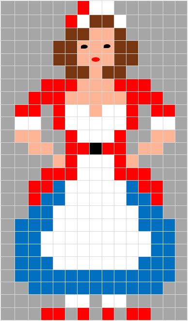 Coding unplugged e pixel art la scheda di carnevale di for Immagini pagliaccio per bambini